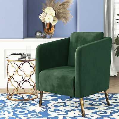 Mercer41 Helsel Velvet Armchair: Green - eBay