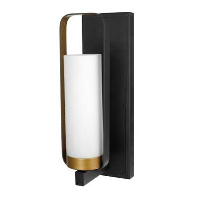 Globe Electric Alston 1-Light Dark Bronze Wall Sconce - Home Depot