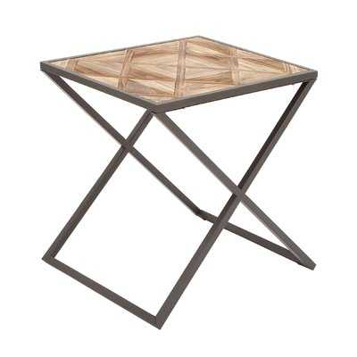 Metal and Wood End Table - Birch Lane