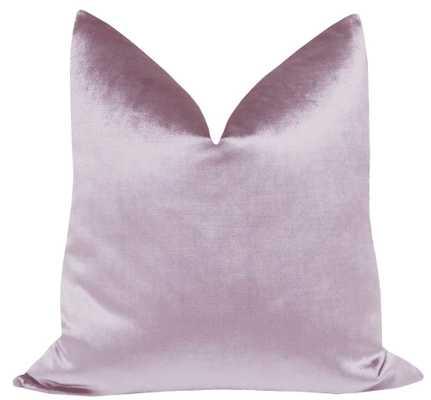 "Faux Silk Velvet // Lavender - 22"" X 22"" - Little Design Company"