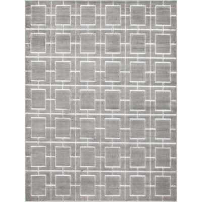 Glam Gray Area Rug - Wayfair