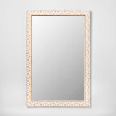 Carved Wood Decorative Wall Mirror Natural - Opalhouse - Target