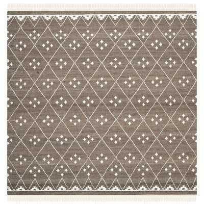 Mill Hand-Woven/Flat-Woven Brown/Ivory Area Rug - Wayfair