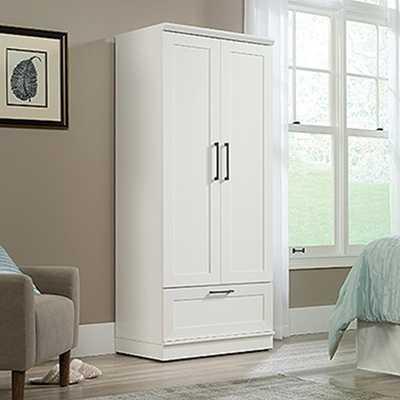 Soft White Wardrobe/Storage Cabinet - Home Depot