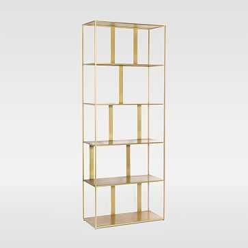 Modern Industrial Bookshelf, Brass - West Elm