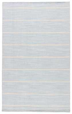 Cape Cod Handmade Stripe Blue/ White Area Rug (9' X 12') - Collective Weavers