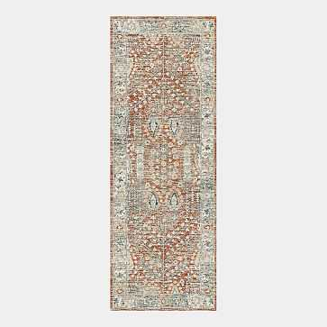 Distressed Nadine Made to Order Rug, Cayenne, 2.5'x7' - West Elm