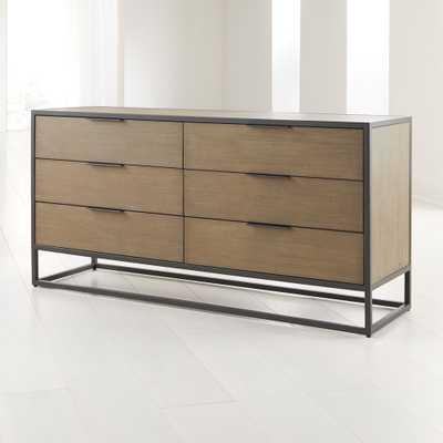 Oxford Shale 6-Drawer Dresser - Crate and Barrel