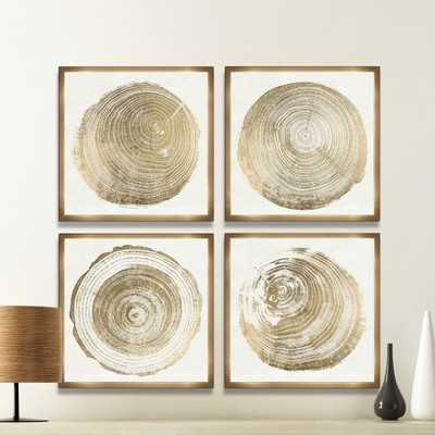 Cuore Legno 4 Piece Framed Graphic Art Set - AllModern