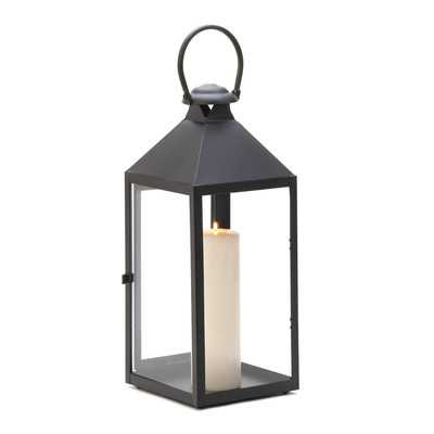 Iron and Glass Metal Lantern - Birch Lane