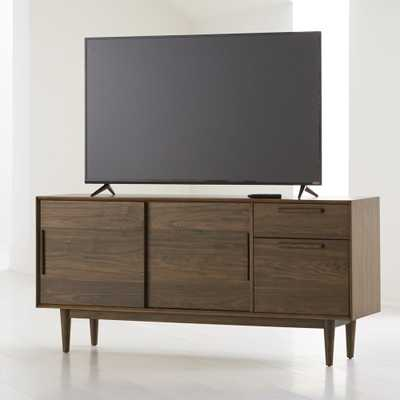"Tate Walnut 64.5"" Credenza/Media Console - Crate and Barrel"
