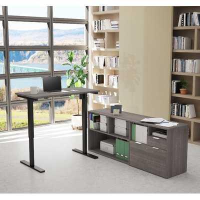 Prattsburgh Height Adjustable L-Shape Computer Desk - Wayfair