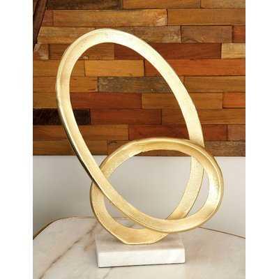 Aluminum/Marble Sculpture - Wayfair