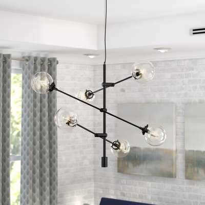 Bailey Antique 6-Light Sputnik Chandelier, Antique Bronze - Wayfair