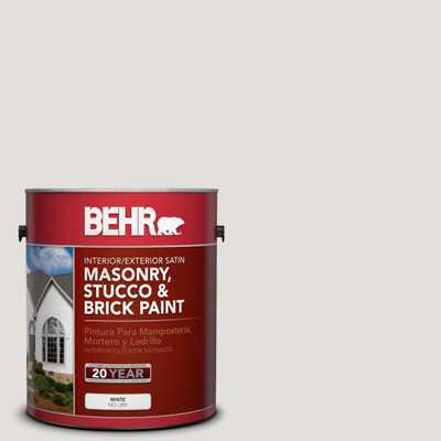 BEHR 1 gal. #MS-87 Dove Gray Satin Elastomeric Masonry, Stucco and Brick Interior/Exterior Paint, Whites - Home Depot