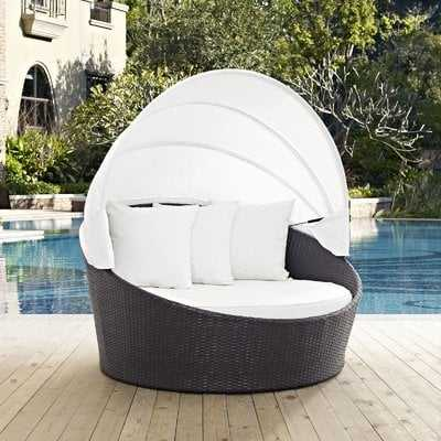 Brentwood Canopy Outdoor Patio Daybed with Cushions - Wayfair
