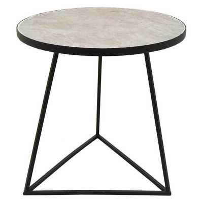 17 in. x 17 in. Black Metal Side Table - Home Depot