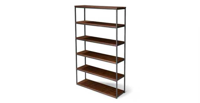 "Archive Walnut 77""H Wide Bookcase - Article"