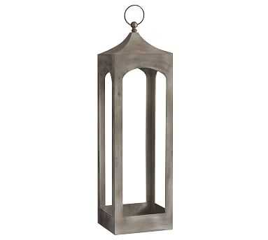 Caleb Lantern - White Weathered, X-Large - Pottery Barn