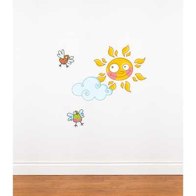 """Adzif (31 in x 21 in) Multi-Color """"Sun"""" Kids Wall Decal, Multicolour - Home Depot"""