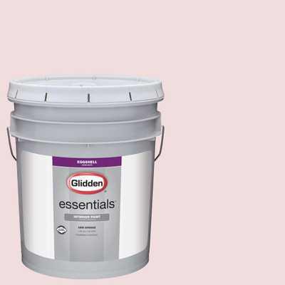Glidden Premium 1 gal. #HDGR30U Romantic Pink Eggshell Interior Paint, Reds/Pinks - Home Depot
