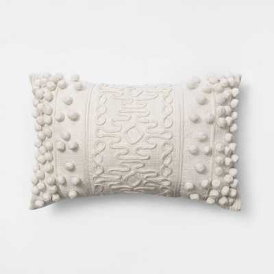 Oblong Pom Throw Pillow Cream - Opalhouse - Target