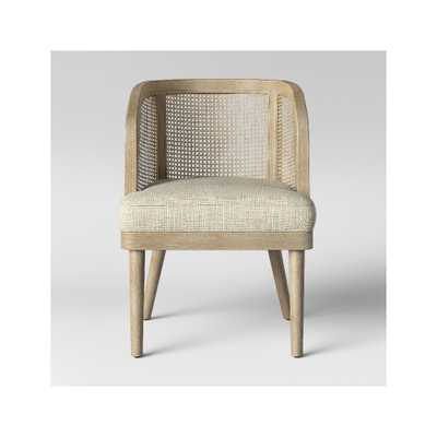 Juniper Cane and White Washed Wood Barrel Chair - Opalhouse, Natural - Target