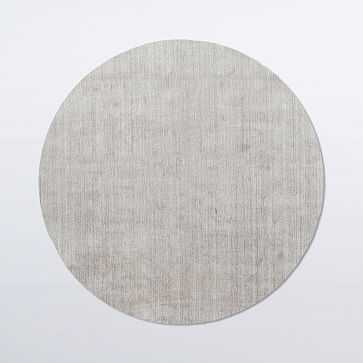 Hand-loomed Shine Rug, Gray, Round - West Elm