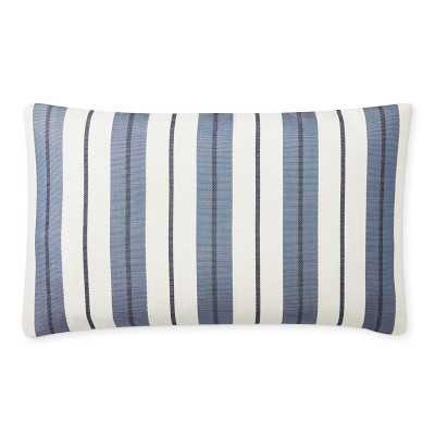 "Perennials Bedouin Stripe Pillow Cover, 14"" X 22"", Blue - Williams Sonoma"