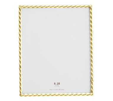 """Rope Plated Frame, Gold - 8 x 10"""" - Pottery Barn"""