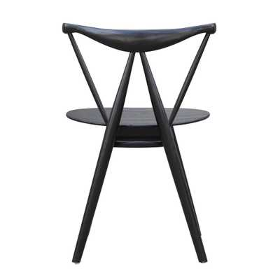 I and L Distributing Black Fronter Dining Chair - Home Depot