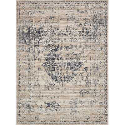 Abbeville Oriental Dark Blue Area Rug - Birch Lane