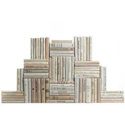 Authentic Decorative Books - By Color Modern Beach Book Wall, Set of 75 (7.5 Linear Feet) - Wayfair