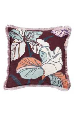 Nordstrom At Home Bold Floral Accent Pillow, Size One Size - Burgundy - Nordstrom