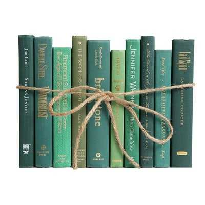 Authentic Decorative Books - By Color Modern Boxwood ColorPak (1 Linear Foot, 10-12 Books) - Wayfair