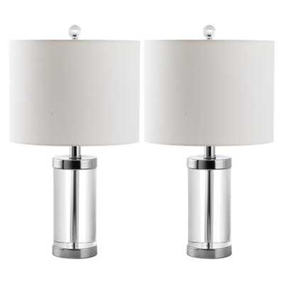 Laurie Crystal Table Lamp (Set of 2) - Safavieh, Silver - Target