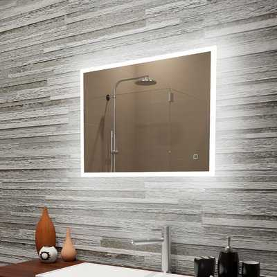 Boman Reflection Dimmable LED Lighted Frosted Edge Bathroom/Vanity Mirror - Wayfair