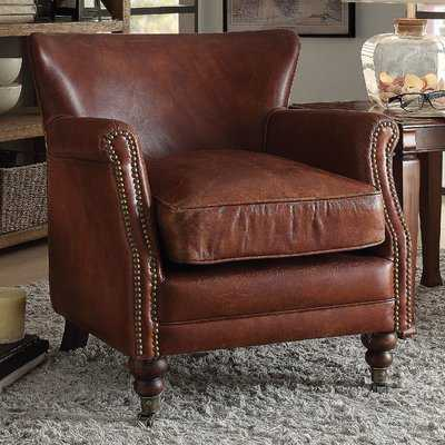 Devyn Top Grain Leather Club Chair - Wayfair