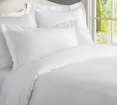 PB Essential Duvet Cover, Twin, White - Pottery Barn