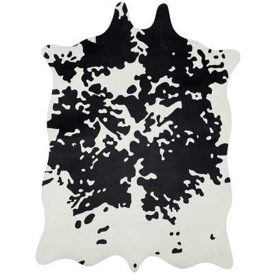 Faux Hide Hand-Tufted Black/White Area Rug - Wayfair