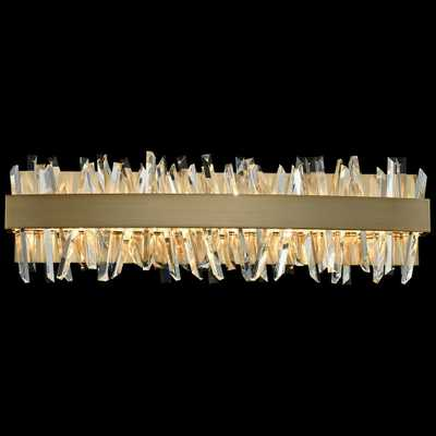 "Allegri Glacier 24""W Champagne Gold LED Crystal Bath Light - Style # 61C66 - Lamps Plus"