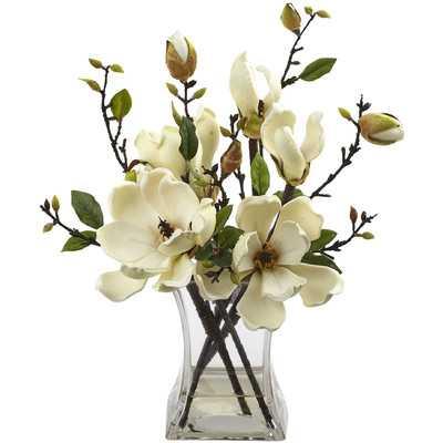 Magnolia Arrangement with Vase - Birch Lane
