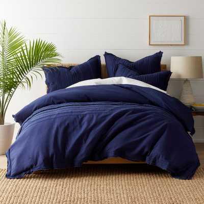 Beachcomber Navy (Blue) Cotton Queen Duvet Cover - Home Depot