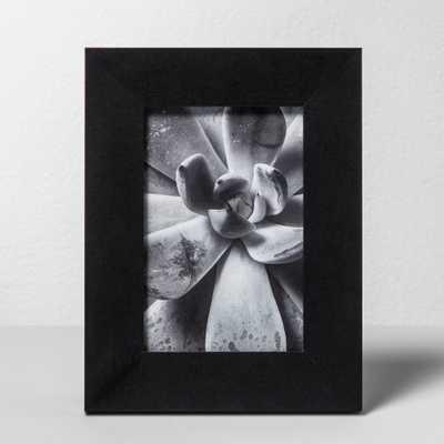 """Wide Single Image Frame Black 4""""x6"""" - Made By Design - Target"""