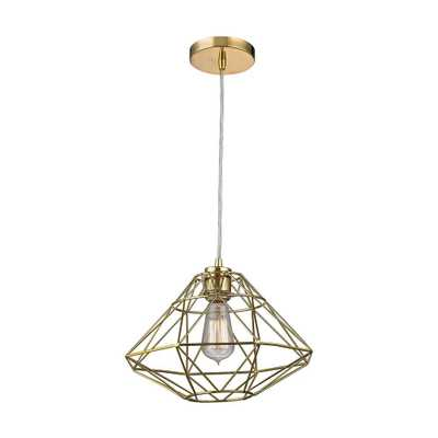 Titan Lighting Paradigm 1-Light Gold Pendant - Home Depot