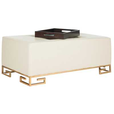 Julian Cream (Ivory) Table Ottoman - Home Depot