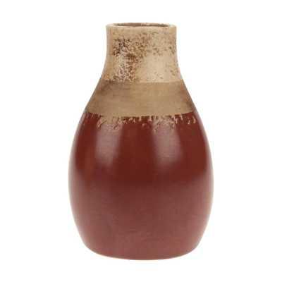Worn Red Ceramic Decorative Vase, Reds/Pinks - Home Depot