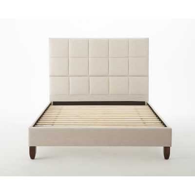 Hayley Taupe (Brown) Queen Upholstered Bed - Home Depot