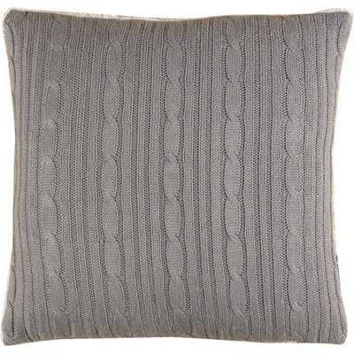 Cozy Cable Knit Throw Pillow Cover, 18x18 - Wayfair