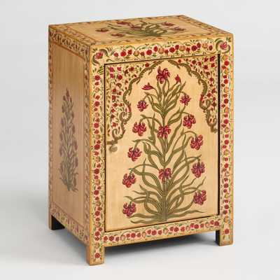 Hand Painted Red Floral Mughal Cabinet by World Market - World Market/Cost Plus